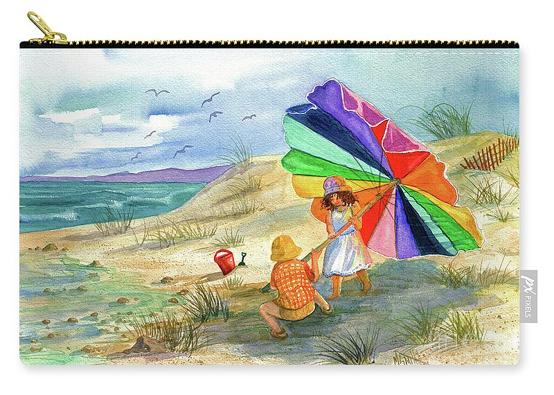 Children Carry-all Pouch featuring the painting Moments To Remember by Marilyn Smith