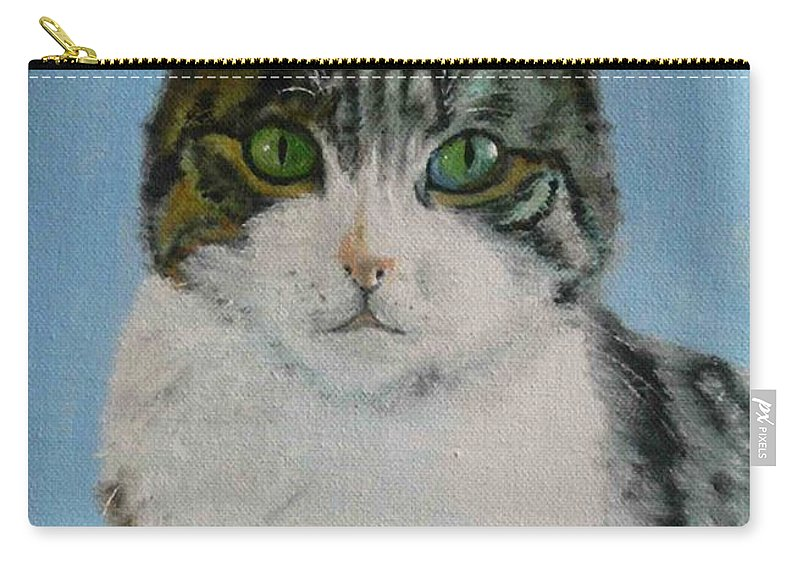 Tomcat Carry-all Pouch featuring the painting Momo by Helmut Rottler
