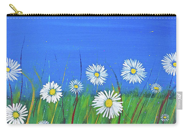 Garden Carry-all Pouch featuring the painting Mom's Garden by Eric Barnes