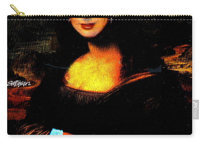 Mona Cher Carry-all Pouch featuring the digital art Mona Cher by Seth Weaver