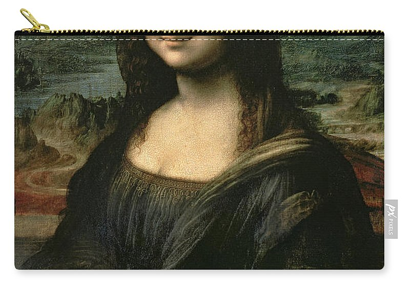 Mona Carry-all Pouch featuring the painting Mona Lisa by Leonardo da Vinci