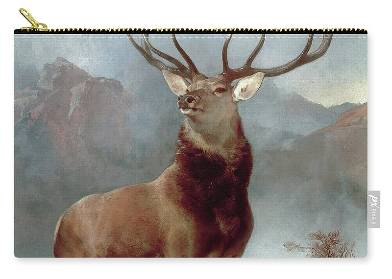 Monarch Carry-all Pouch featuring the painting Monarch Of The Glen by Sir Edwin Landseer