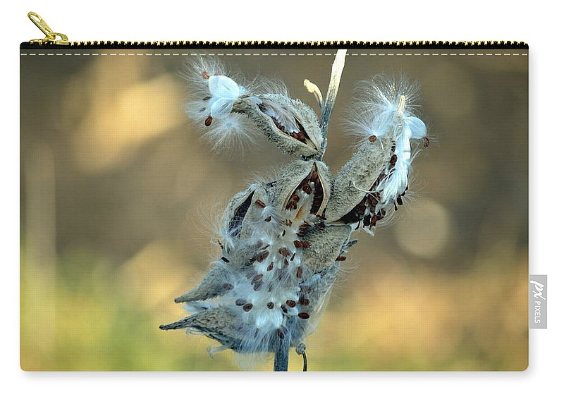Seeds Carry-all Pouch featuring the photograph Monarch Seeds by Bonfire Photography
