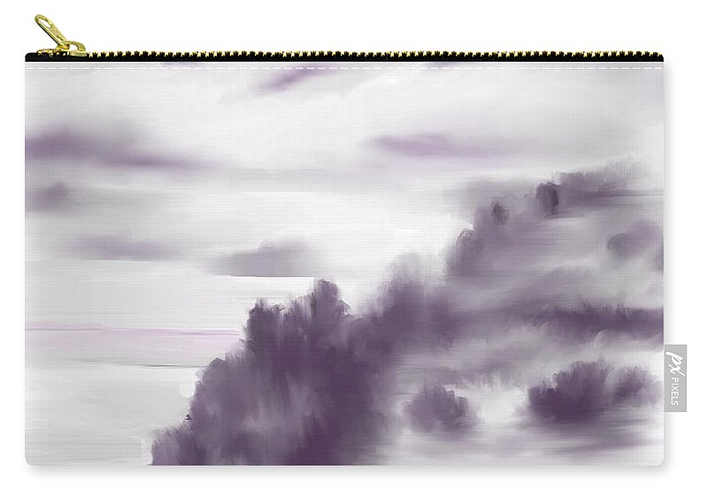 Landscape Carry-all Pouch featuring the digital art Monchrome 1 by David Lane