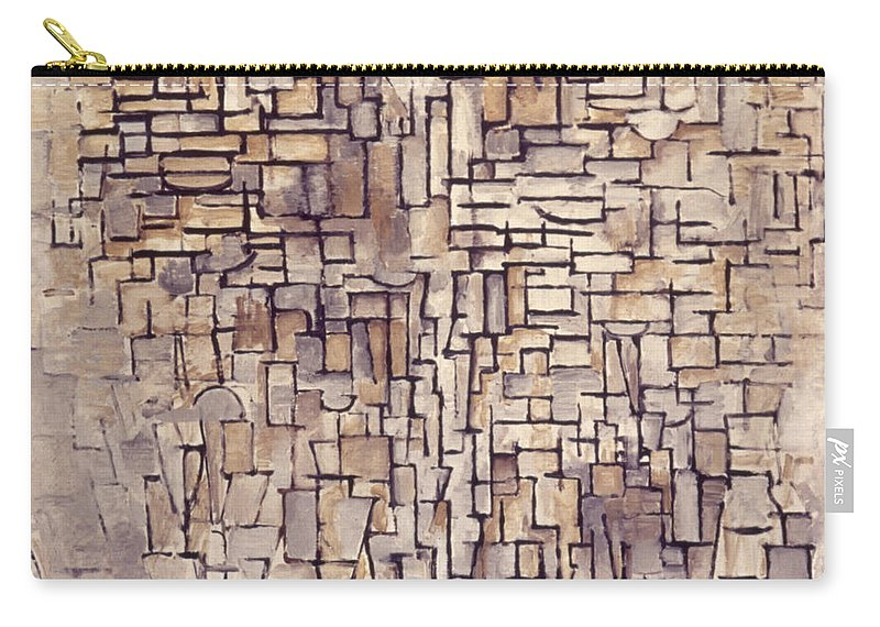 1913 Carry-all Pouch featuring the photograph Mondrian: Composition, 1913 by Granger