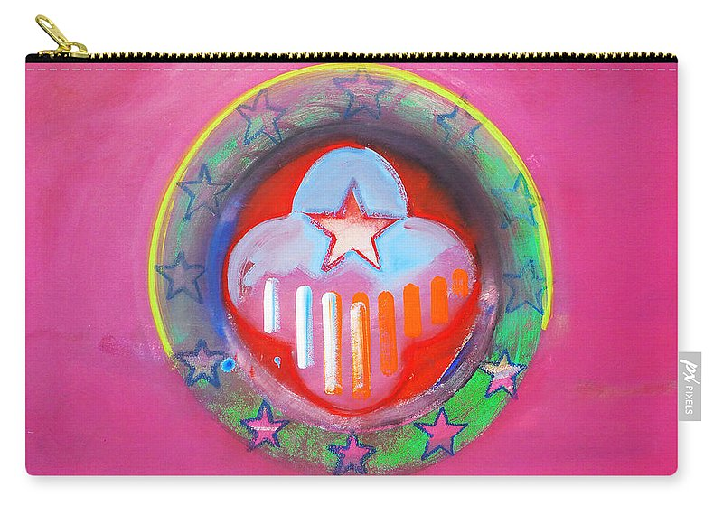 Symbol Carry-all Pouch featuring the painting Monetary Union by Charles Stuart