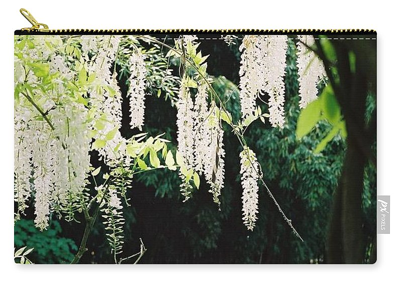 Monet Carry-all Pouch featuring the photograph Monet's Garden Delights by Nadine Rippelmeyer
