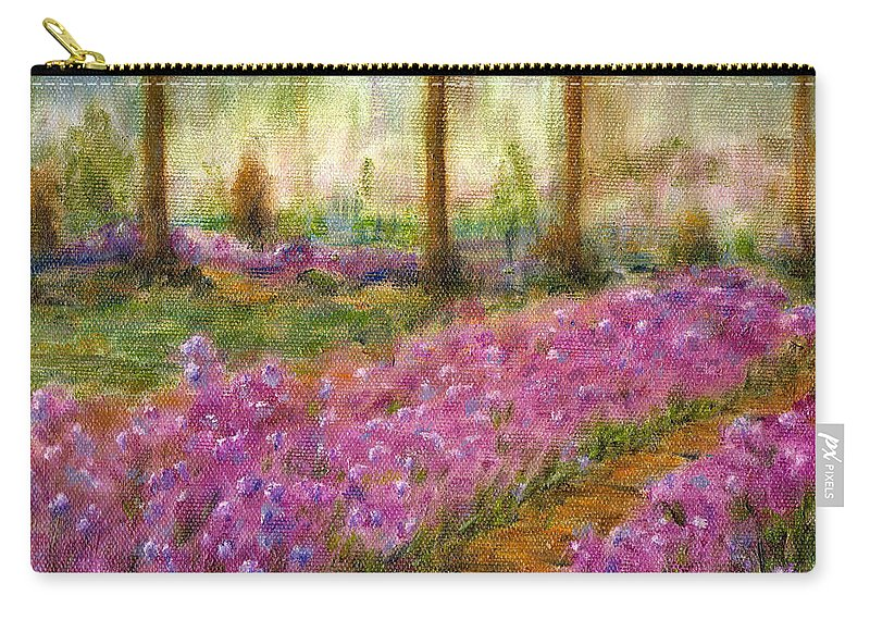 Monet Carry-all Pouch featuring the painting Monet's Garden In Cannes by Jerome Stumphauzer