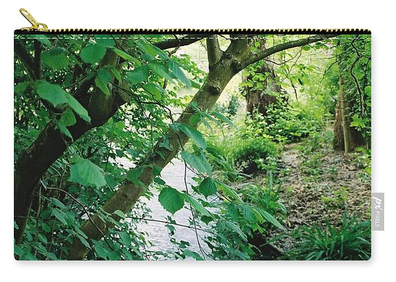 Photography Carry-all Pouch featuring the photograph Monet's Garden Stream by Nadine Rippelmeyer
