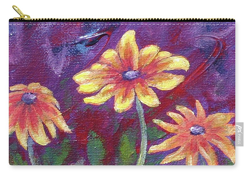 Small Acrylic Painting Carry-all Pouch featuring the painting Monet's Small Composition by Jennifer McDuffie