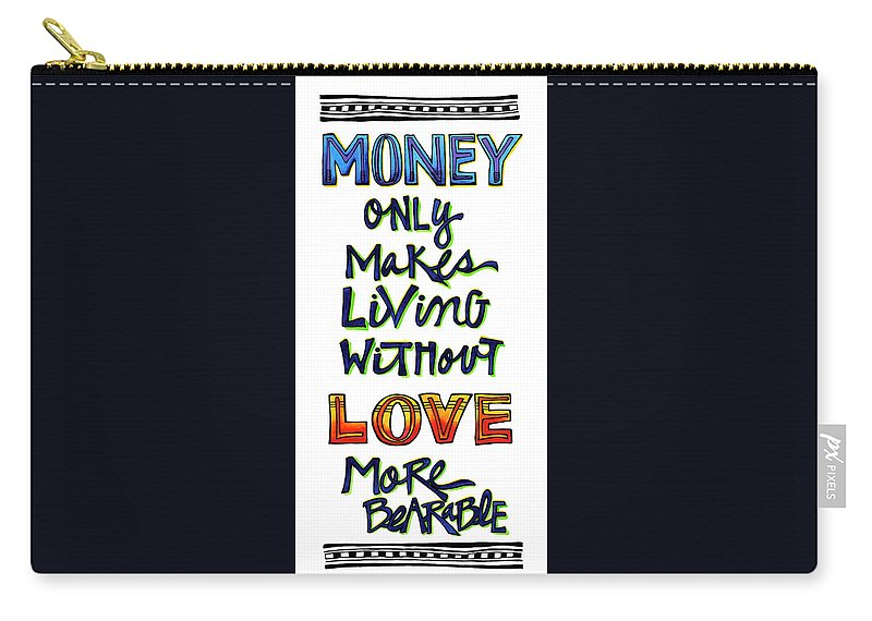 Art Carry-all Pouch featuring the painting Money Only by Dar Freeland