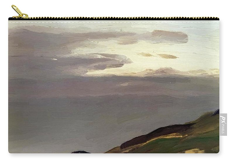 Monhegan Carry-all Pouch featuring the painting Monhegan Island Maine 1911 by Henri Robert