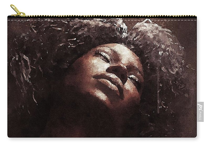 Portrait Carry-all Pouch featuring the digital art Monique I by Damian De Villiers