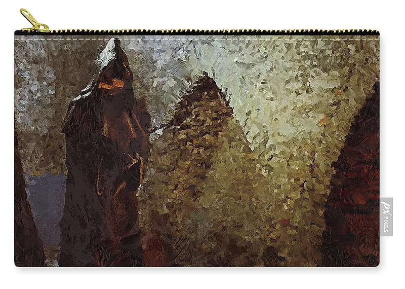 Medieval Carry-all Pouch featuring the photograph Monk by Pekka Liukkonen