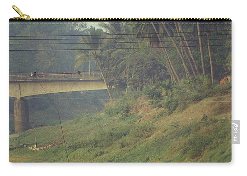 Monks Carry-all Pouch featuring the photograph Monks - Battambang by Patrick Klauss