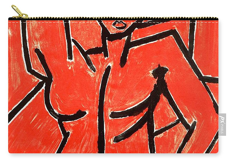 Clay Carry-all Pouch featuring the painting Mono 2 by Thomas Valentine