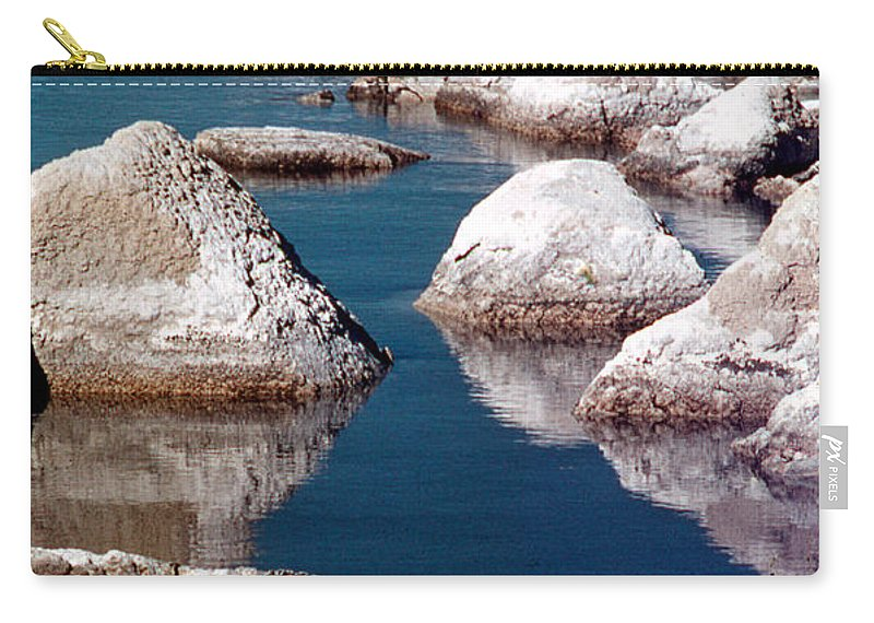 California Scenes Carry-all Pouch featuring the photograph Mono Lake Tufa by Norman Andrus