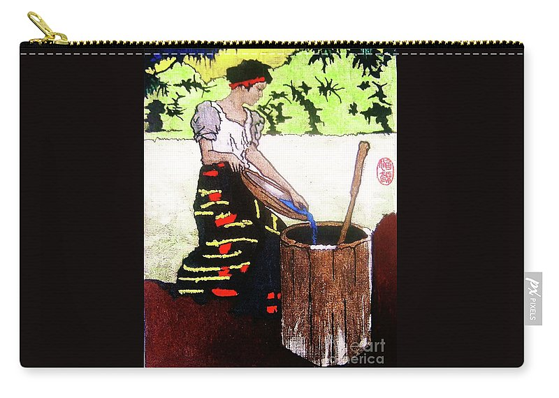 Figurative Carry-all Pouch featuring the painting Monobo Chores by Roberto Prusso