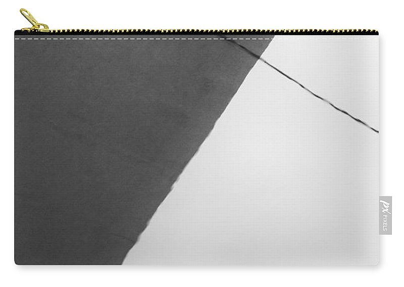 Monochrome Carry-all Pouch featuring the photograph Monochrome Building Abstract 1 by John Williams