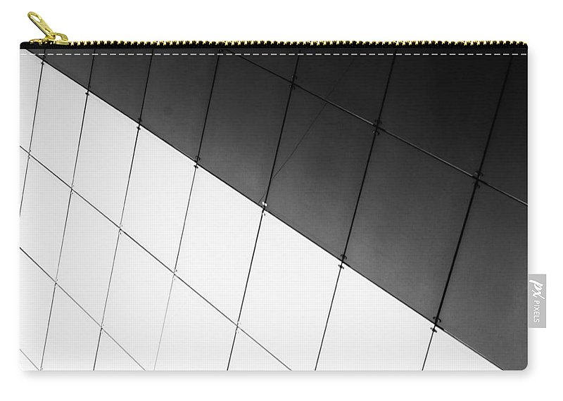 Monochrome Carry-all Pouch featuring the photograph Monochrome Building Abstract 3 by John Williams