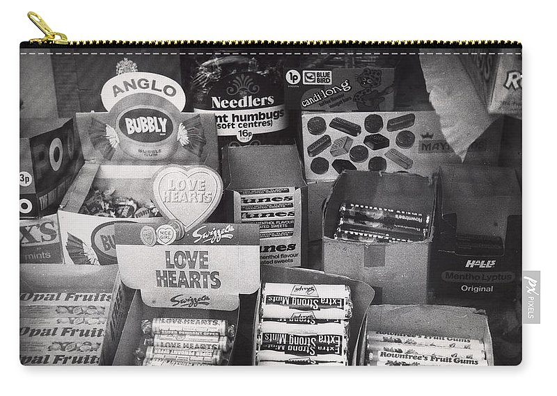 Candy Carry-all Pouch featuring the photograph Monochrome Candy by Charles Stuart