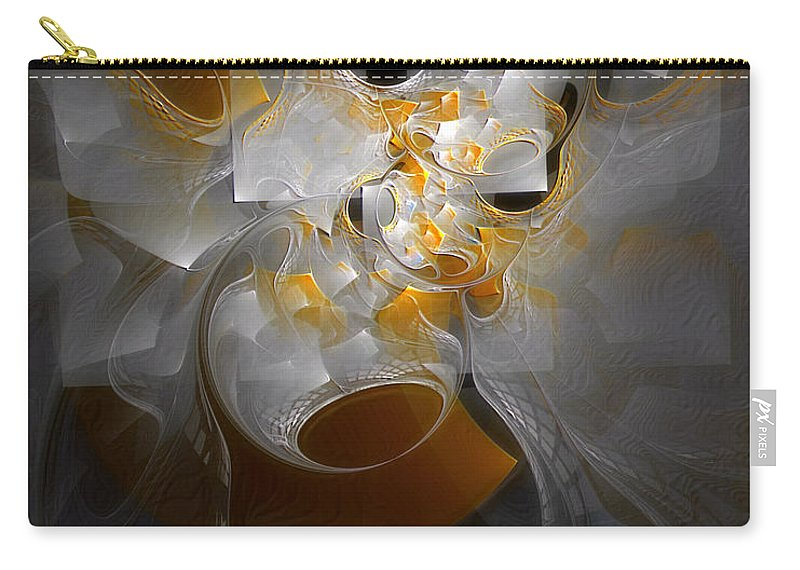 Abstract Carry-all Pouch featuring the digital art Monolith And Friends by Casey Kotas