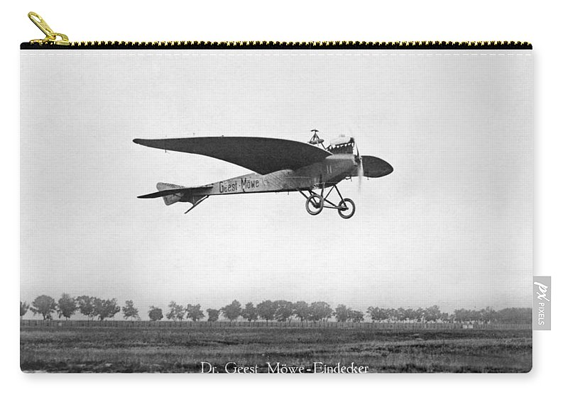 1910 Carry-all Pouch featuring the photograph Monoplane, 1910 by Granger