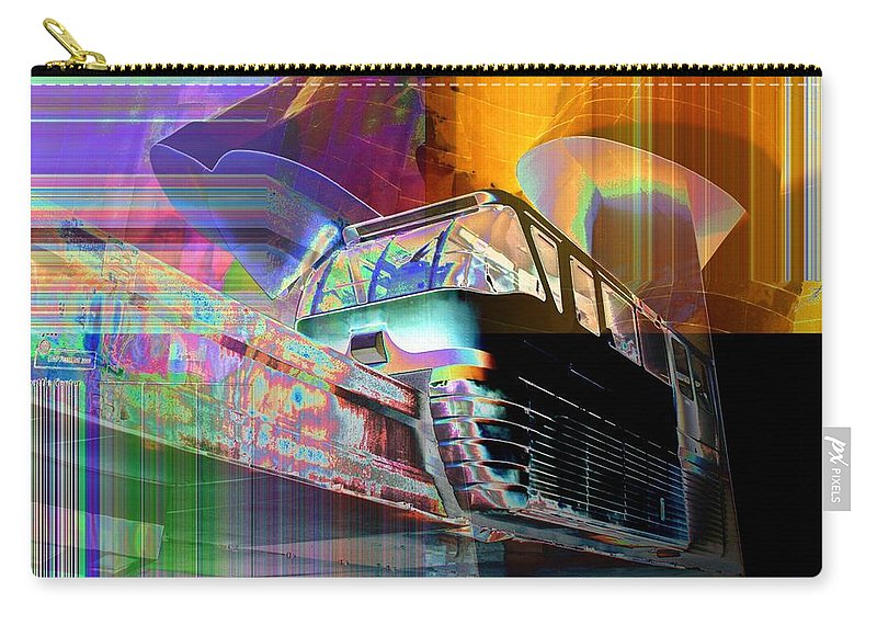 Seattle Carry-all Pouch featuring the digital art Monorail And Emp by Tim Allen