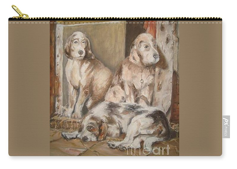 Realistic Carry-all Pouch featuring the painting Monotony by Rushan Ruzaick