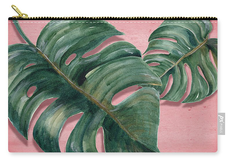 Summer Carry-all Pouch featuring the photograph Monstera Leaf by Mark Ashkenazi