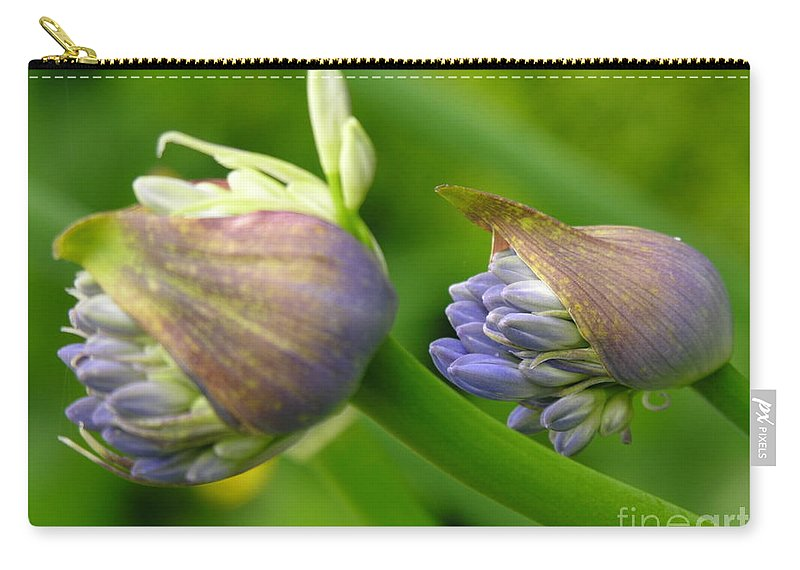 Blue Carry-all Pouch featuring the photograph Montana Blue by Diane Greco-Lesser