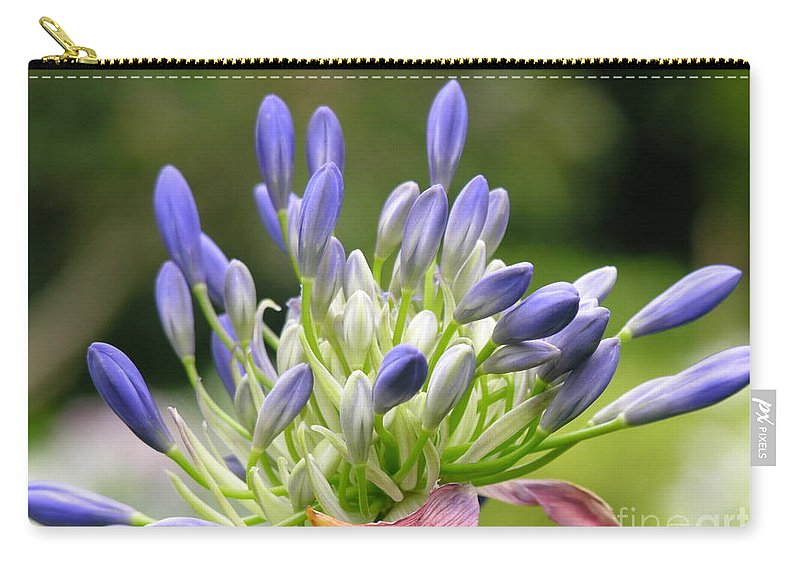 Purple Carry-all Pouch featuring the photograph Montana Flower by Diane Greco-Lesser