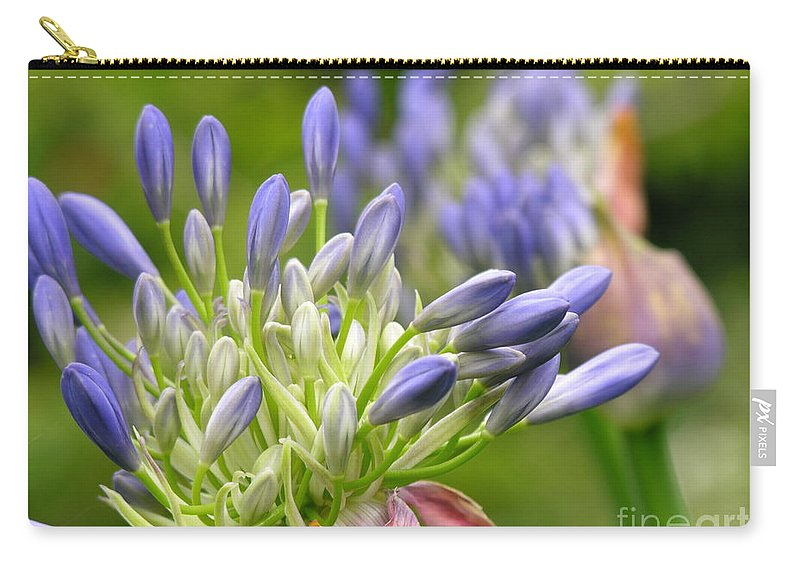 Blue Carry-all Pouch featuring the photograph Montana Purple And Blue by Diane Greco-Lesser