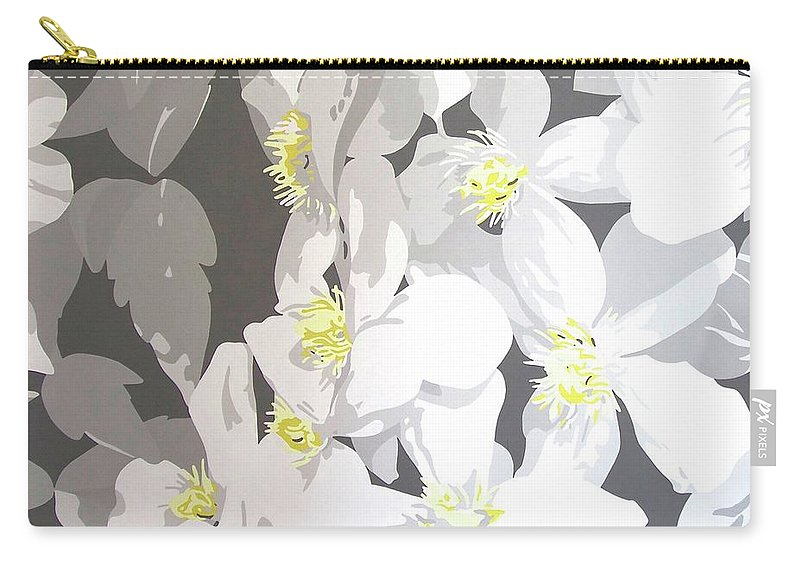 Clematis Carry-all Pouch featuring the painting Montana by Susan Porter