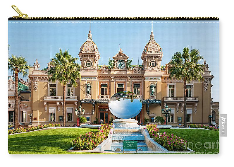 Casino Carry-all Pouch featuring the photograph Monte Carlo Casino And Sky Mirror In Monaco by Elena Elisseeva