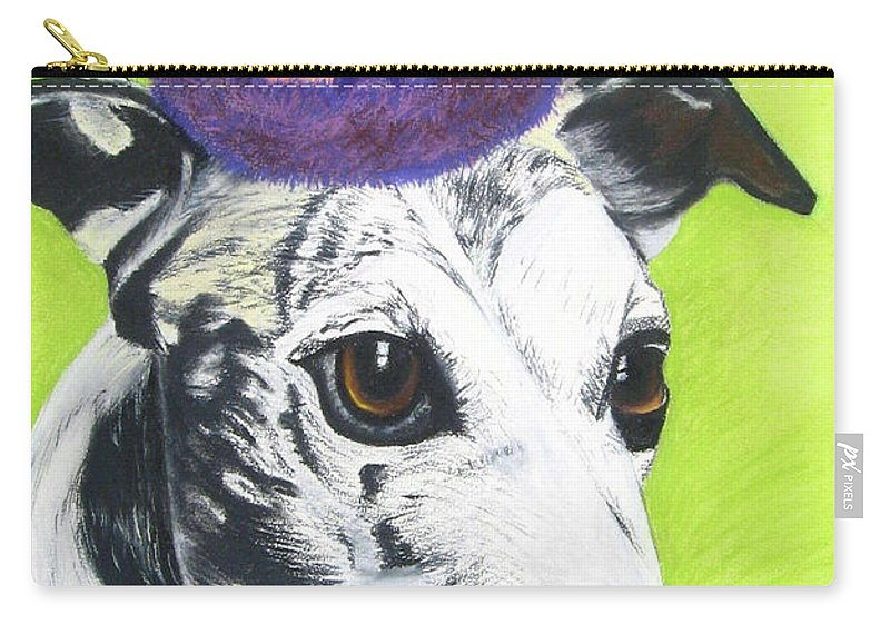 Dog Painting Carry-all Pouch featuring the pastel Monte by Michelle Hayden-Marsan