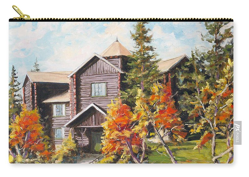 Landscape Carry-all Pouch featuring the painting Montebello by Richard T Pranke