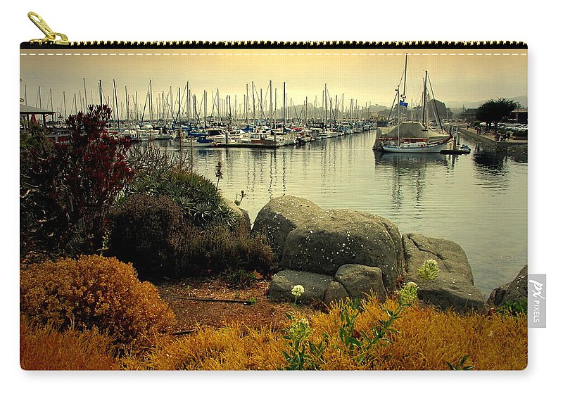 Marina Carry-all Pouch featuring the photograph Monterey Marina Vista by Joyce Dickens