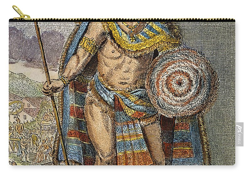 15th Century Carry-all Pouch featuring the photograph Montezuma II (1480?-1520) by Granger