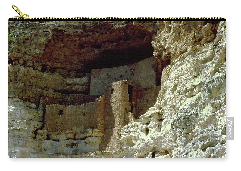 Arizona Carry-all Pouch featuring the photograph Montezumas Castle by Gary Wonning