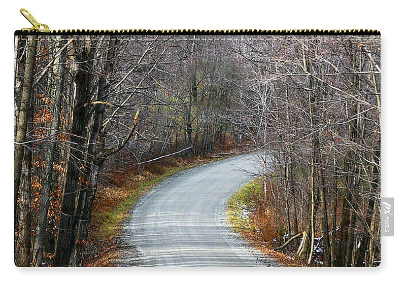 Road Carry-all Pouch featuring the photograph Montgomery Mountain Road by Deborah Benoit