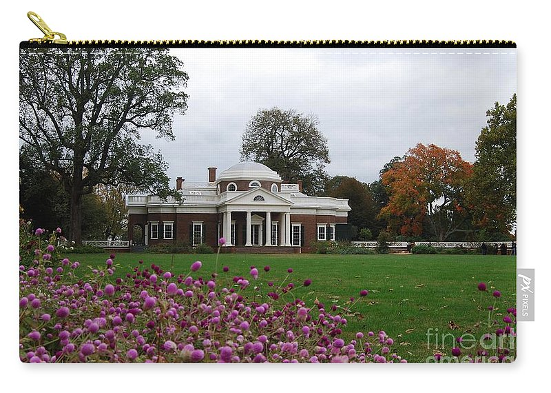 Fall Carry-all Pouch featuring the photograph Monticello by Eric Liller