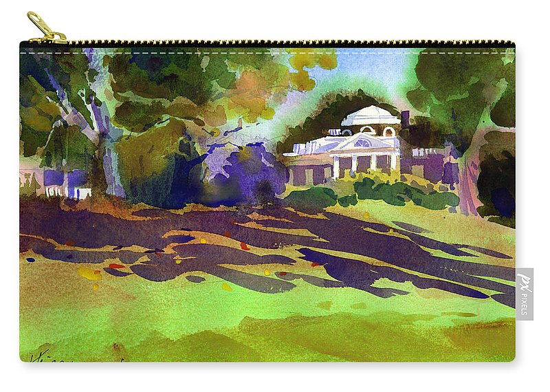 Thomas Jefferson Carry-all Pouch featuring the painting Monticello In October by Lee Klingenberg