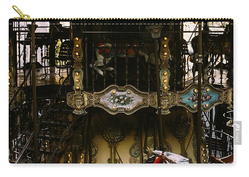 Carousel Carry-all Pouch featuring the photograph Montmartre Carousel by Pati Photography