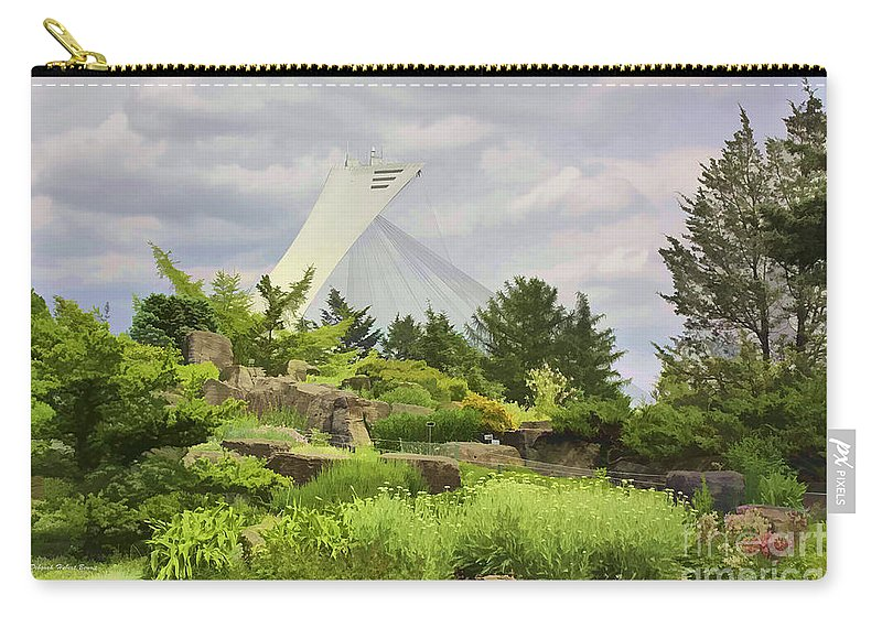 Montreal Carry-all Pouch featuring the photograph Montreal Biodome Backdrop by Deborah Benoit
