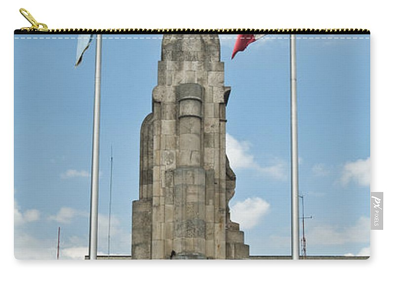 Quezaltenango Carry-all Pouch featuring the photograph Monument Central Square Quezaltenango Guatemala by Douglas Barnett