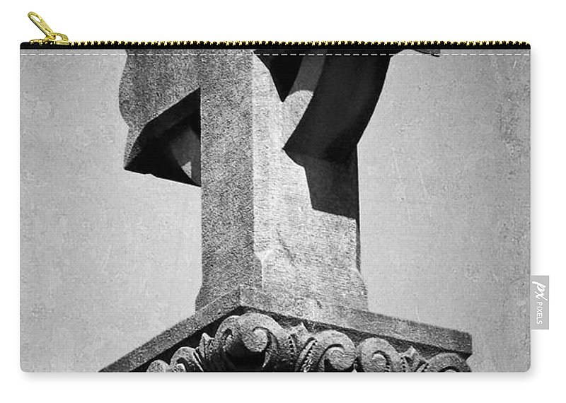 Irish Carry-all Pouch featuring the photograph Monument Cross Macroom Ireland by Teresa Mucha