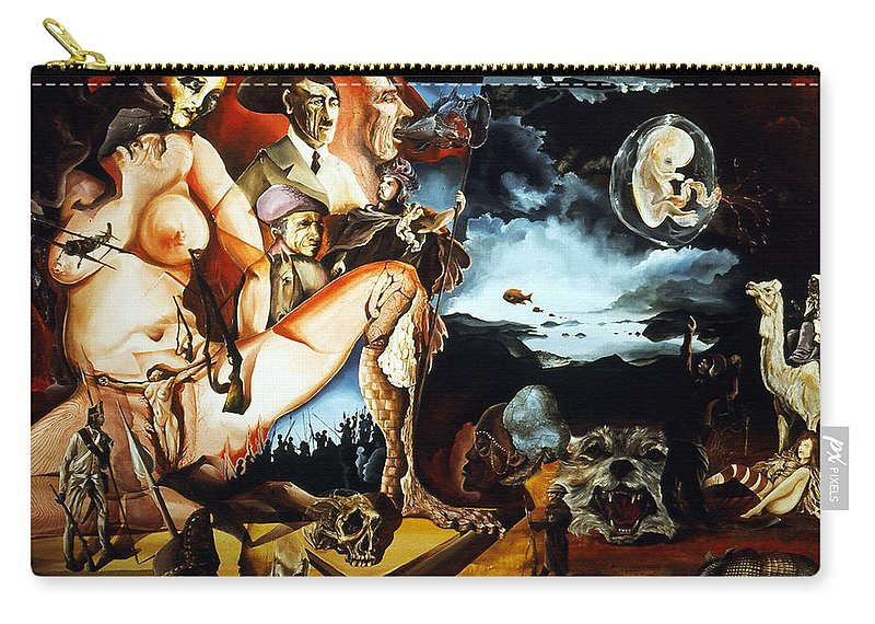 War Carry-all Pouch featuring the painting Monument To The Unborn War Hero by Otto Rapp