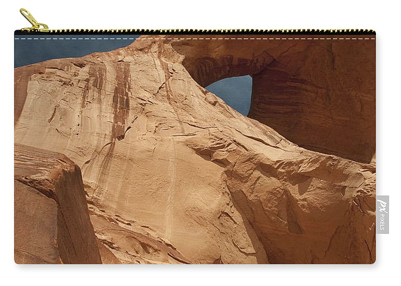 Arch Carry-all Pouch featuring the photograph Monument Valley Arch 7369 by Bob Neiman