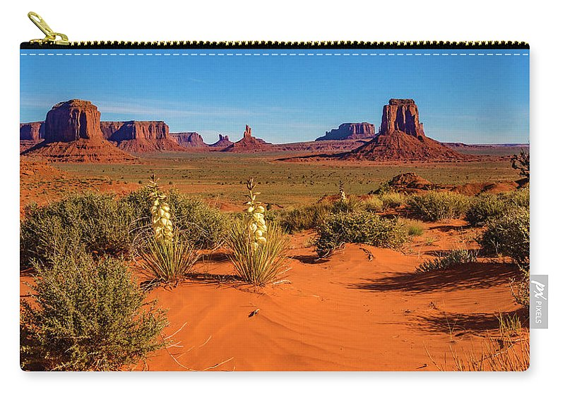 Monument Valley Carry-all Pouch featuring the photograph Monument Valley by Norman Hall